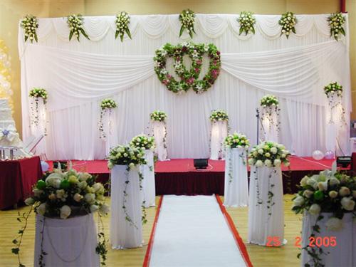 婚礼场地布置001-在线订购-秦皇岛月圆婚庆鲜花产品
